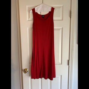 Eileen Fisher Red Sleeveless Stretch Dress